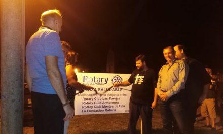 Rotary Club Las Parejas inauguró una Plaza Saludable
