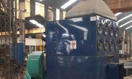 Principio de incendio en una máquina