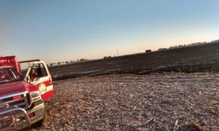 Bomberos controlaron incendios de pastizales
