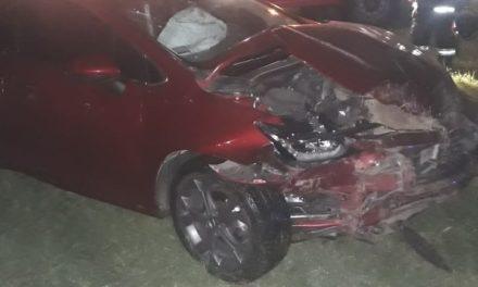 Accidente en el cruce de rutas 65 y 13 en Las Rosas