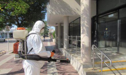 Operativos de desinfección y control vehicular
