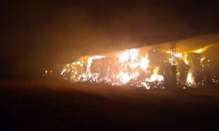 Voraz incendio en zona rural de Las Rosas