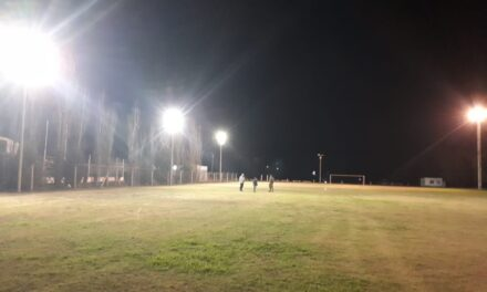 Iluminación Led para cancha auxiliar juveniles en Argentino