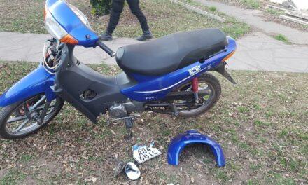 La policía recuperó en el día una moto robada
