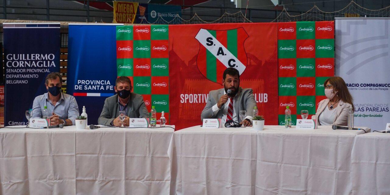 """Sportivo presentó la """"Burbuja"""" donde realiza la pretemporada el Seleccionado Nacional Femenino de Vóley"""