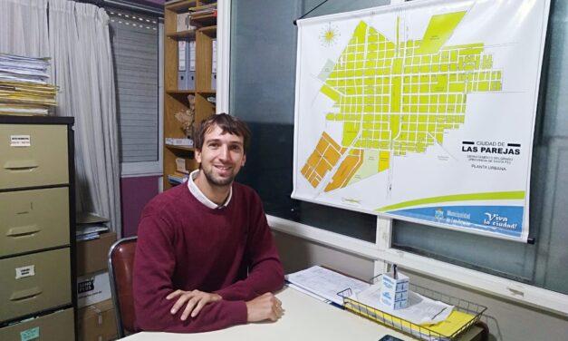 Continúa la obra de cordón cuneta en el Barrio Malvinas Argentinas