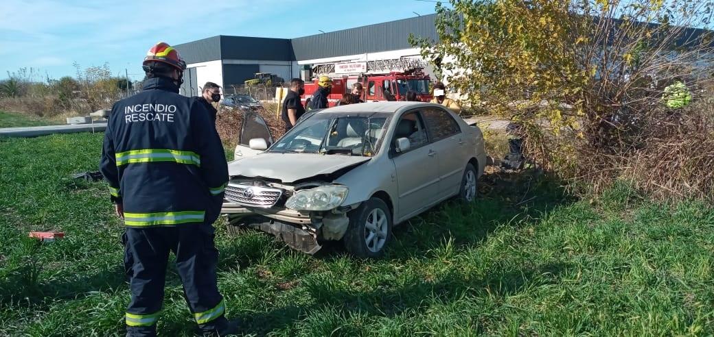 Accidente en un camino rural