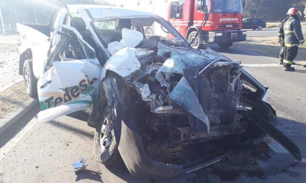 Accidente en el cruce de la 13 y la 65