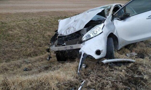 Accidente en zona rural de Las Rosas