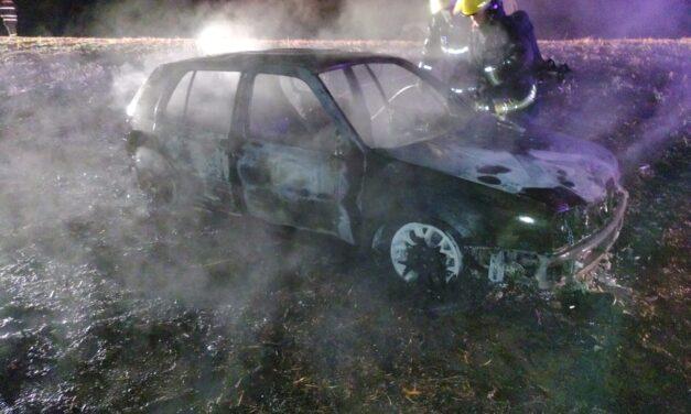 Incendio de vehículo en Ruta 178