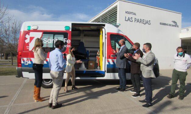 Anunciaron que el SAMCo es recategorizado a Hospital y el Gobernador Perotti entregó una Ambulancia